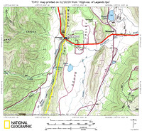 Stonewall Gap, Map